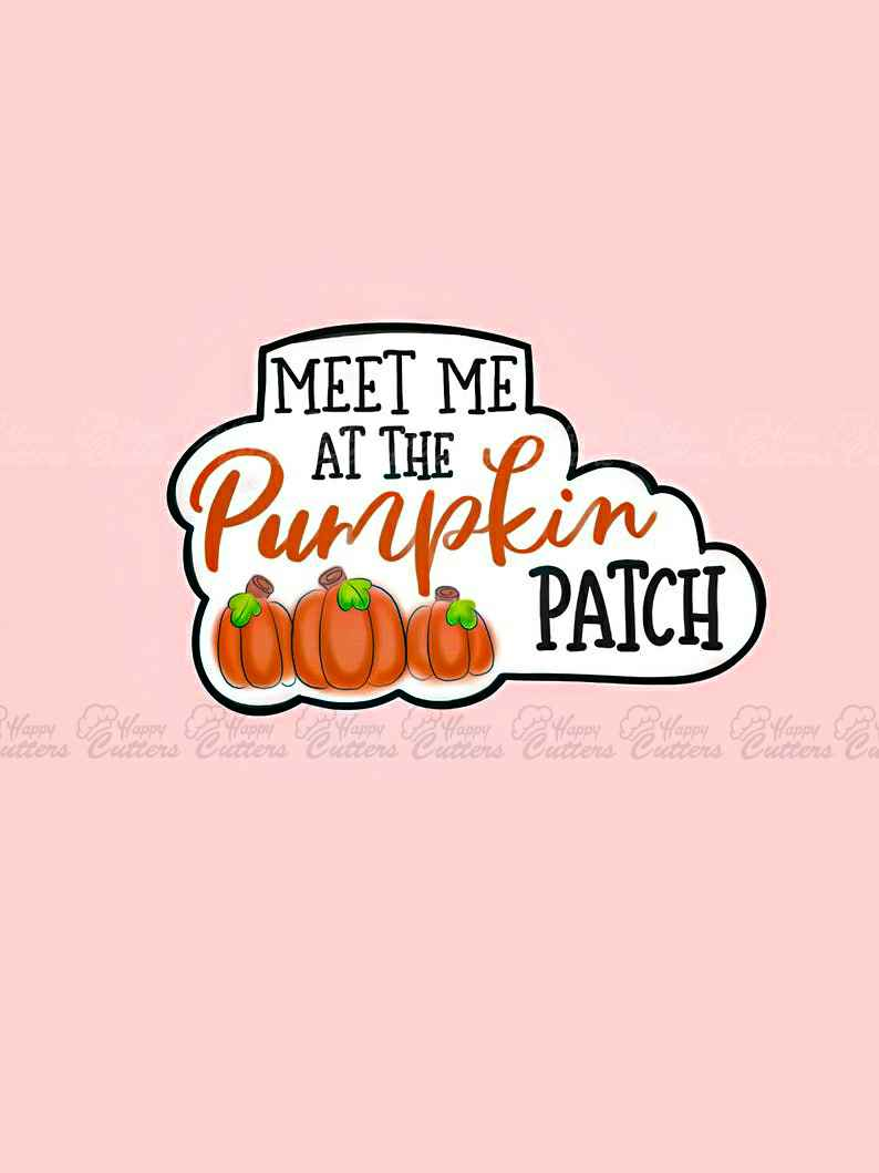 Meet Me At The Pumpkin Patch Plaque Cookie Cutter,                       letter cookie cutters, cursive letter cookie stamp, cursive letter fondant cutters, fancy letter cookie cutters, large letter cookie cutters, letter shaped cookie cutters, cookie cutters argos, suitcase cookie cutter, drum cookie cutter, 5 inch round cookie cutter, obscene cookie cutters, hello kitty cutter, cookie cutter cuts, mary poppins cookie cutter,