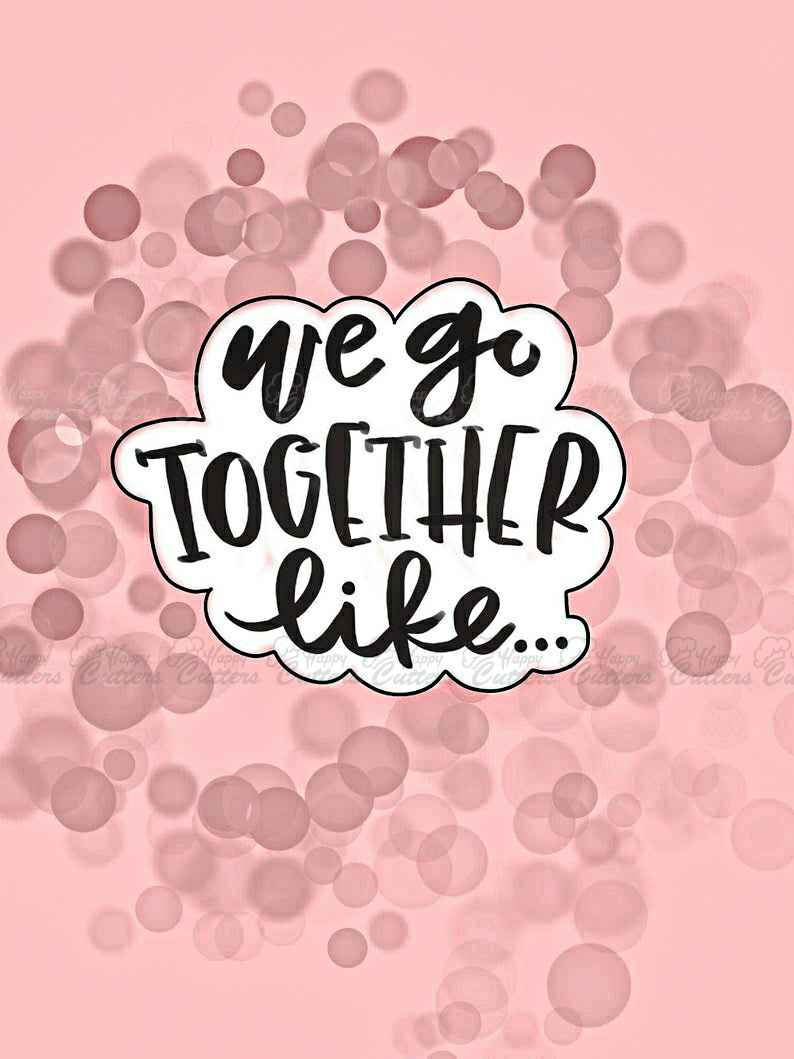 We Go Together Like Plaque Cookie Cutter,                       letter cookie cutters, cursive letter cookie stamp, cursive letter fondant cutters, fancy letter cookie cutters, large letter cookie cutters, letter shaped cookie cutters, wilton comfort grip cookie cutters, barbie cookie cutter, rolling stones cookie cutter, pickup truck cookie cutter, small pastry cutters, heart shape cake cutter, minnie mouse fondant cutter, easter cookie cutters kmart,