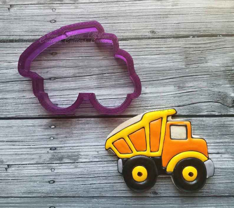 Dump Truck #2 Cookie Cutter and Fondant Cutter and Clay Cutter,                       construction cookie cutters, construction truck cookie cutters, bulldozer cookie cutter, construction vehicle cookie cutters, hammer cookie cutter, tow truck cookie cutter, h cookie cutter, making your own cookie cutters, unicorn cookie cutter michaels, biscuit shape cutters, ecrandal cookie cutters, heart shaped cookie cutter michaels, graduation cap cookie cutter, extra large number cookie cutters,