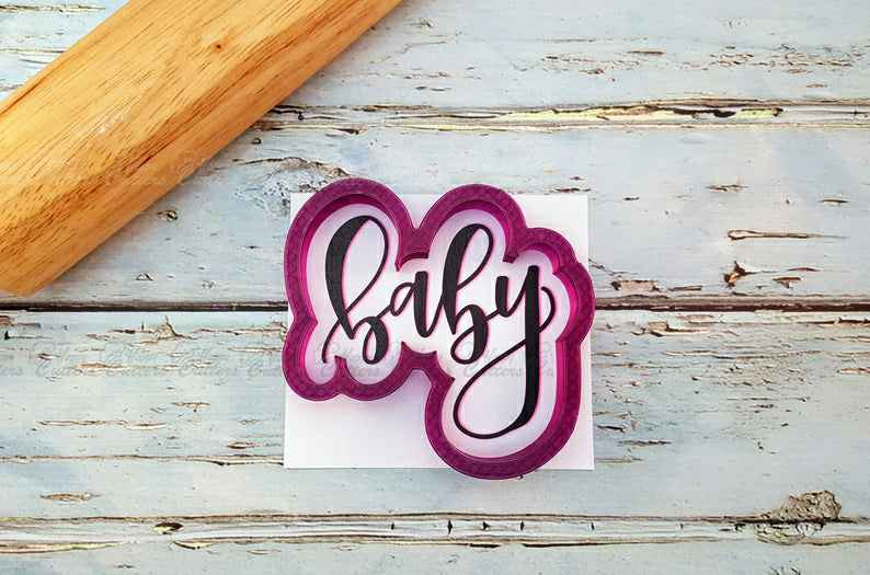 Baby Hand Lettered Cookie Cutter and Fondant Cutter and Clay Cutter with Optional Stencil,                       letter cookie cutters, cursive letter cookie stamp, cursive letter fondant cutters, fancy letter cookie cutters, large letter cookie cutters, letter shaped cookie cutters, cross cookie cutter michaels, christmas cookie sets, western cookie cutters, rick and morty cookie cutter, cookie cutter online, birkmann cookie stamp, cookie cutters michaels, number 1 cookie cutter near me,