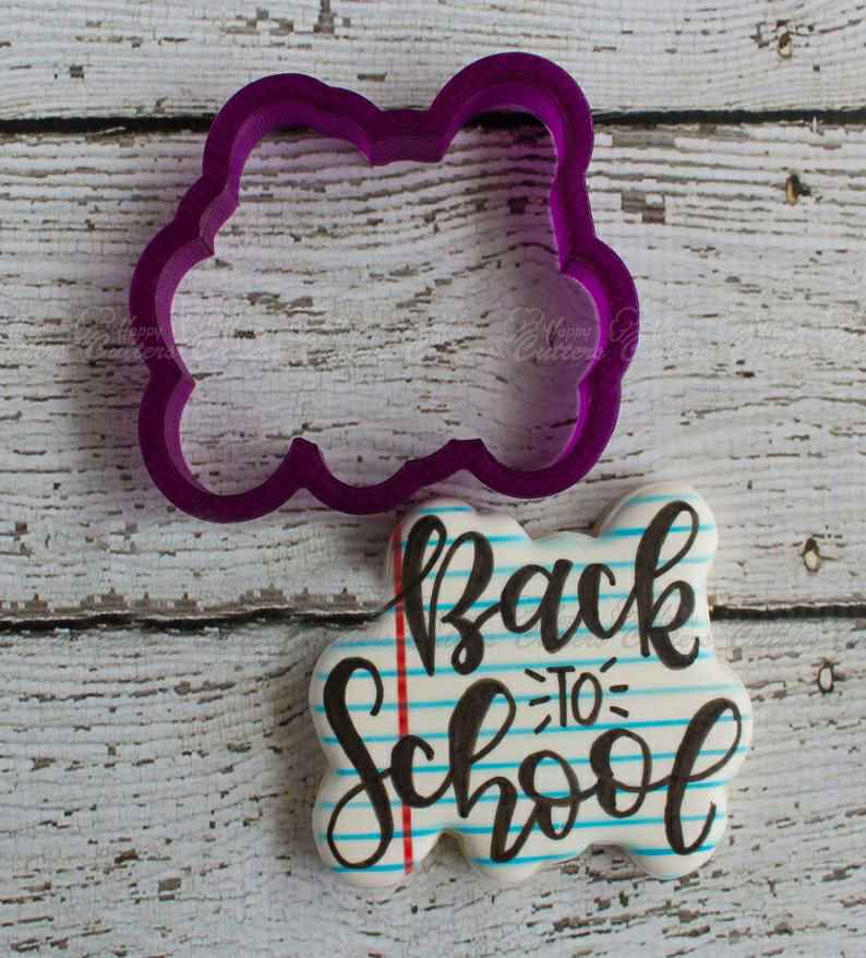 Back to School Hand Lettered Cookie Cutter and Fondant Cutter and Clay Cutter with Optional Stencil,                       letter cookie cutters, cursive letter cookie stamp, cursive letter fondant cutters, fancy letter cookie cutters, large letter cookie cutters, letter shaped cookie cutters, heart cookie cutter, cutter craft cookie cutters, fireman cookie cutter, wilton cookie tree cutter kit, large gingerbread man cutter, paw print cookie cutter, batman cake cutter, 1 inch square cookie cutter,