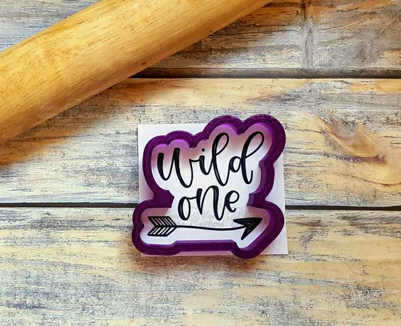 Wild One with Arrow Hand Lettered Cookie Cutter and Fondant Cutter and Clay Cutter,                       letter cookie cutters, cursive letter cookie stamp, cursive letter fondant cutters, fancy letter cookie cutters, large letter cookie cutters, letter shaped cookie cutters, fruit shaped cookie cutters, handmade cookie cutters, wedding cookie cutter set, christmas cookie cutters, heart shaped cutter asda, pine cone cookie cutter, lady milkstache cookie cutters, lily cookie cutter,