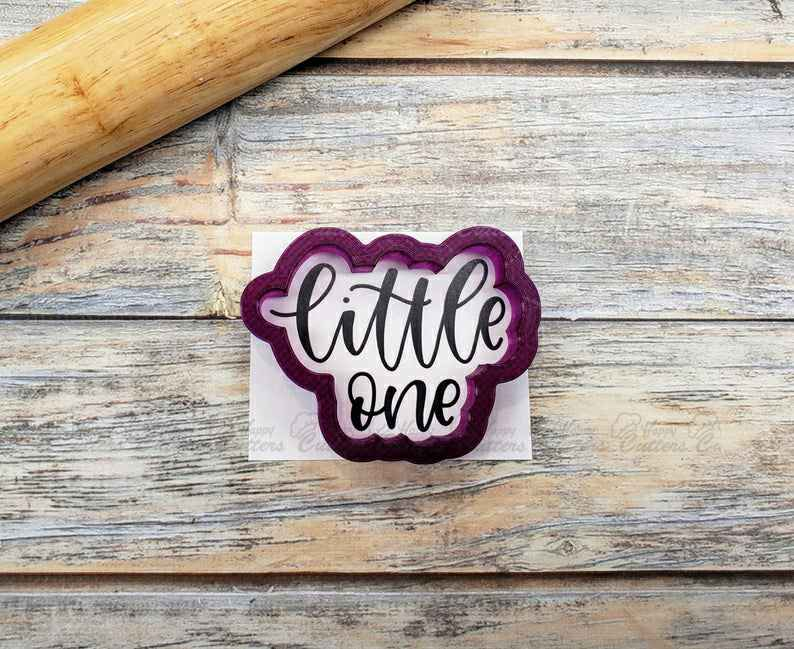 Little One Hand Lettered Cookie Cutter and Fondant Cutter and Clay Cutter,                       letter cookie cutters, cursive letter cookie stamp, cursive letter fondant cutters, fancy letter cookie cutters, large letter cookie cutters, letter shaped cookie cutters, rolling cookie cutter set, coles cookie cutter, graduation hat cookie cutter, mickey cookie cutter, kohls cookie cutters, fruit and vegetable shaped cookie cutters, skyline fondant cutter, martini glass cookie cutter,