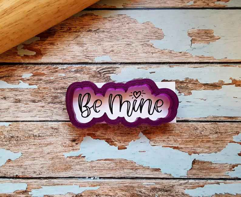 Be Mine Hand Lettered Cookie Cutter and Fondant Cutter and Clay Cutter with Optional Stencil,                       letter cookie cutters, cursive letter cookie stamp, cursive letter fondant cutters, fancy letter cookie cutters, large letter cookie cutters, letter shaped cookie cutters, cookie cutter shop, wwe cookie cutter, llama cookie cutter, animal biscuit cutters, commercial cookie cutters, digger cookie cutter, small christmas cookie cutters, statue of liberty cookie cutter,