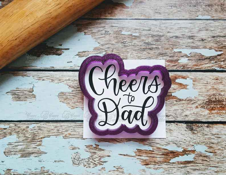 Cheers to Dad Hand Lettered Cookie Cutter and Fondant Cutter and Clay Cutter with Optional Stencil,                       letter cookie cutters, cursive letter cookie stamp, cursive letter fondant cutters, fancy letter cookie cutters, large letter cookie cutters, letter shaped cookie cutters, sweet sugarbelle halloween, animal cookie cutters walmart, shopkins cookie cutters, christening cookie cutters, gecko cookie cutter, teacher cookie cutters, gingerbread man cookie cutter kmart, 4 inch square cookie cutter,