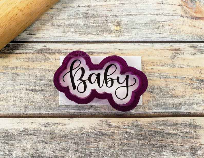 Baby (with upper case B) Hand Lettered Cookie Cutter and Fondant Cutter and Clay Cutter with Optional Stencil,                       letter cookie cutters, cursive letter cookie stamp, cursive letter fondant cutters, fancy letter cookie cutters, large letter cookie cutters, letter shaped cookie cutters, baby shower cookie stencils, animal cookie cutters kmart, moose head cookie cutter, sweet sugarbelle christmas cookie cutters, dinosaur shape cutters, metal cookie cutters with handles, letter b cookie cutter, biscuit cutter target,