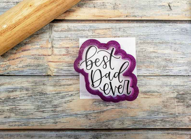Best Dad Ever Hand Lettered Cookie Cutter and Fondant Cutter and Clay Cutter with Optional Stencil,                       letter cookie cutters, cursive letter cookie stamp, cursive letter fondant cutters, fancy letter cookie cutters, large letter cookie cutters, letter shaped cookie cutters, tiny heart cookie cutter, linzer cookie cutter set, halloween cookie cutters sainsburys, christmas bulb cookie cutter, dog breed cookie cutters, masquerade cookie cutter, animal biscuit cutters, horse cookie cutter michaels,