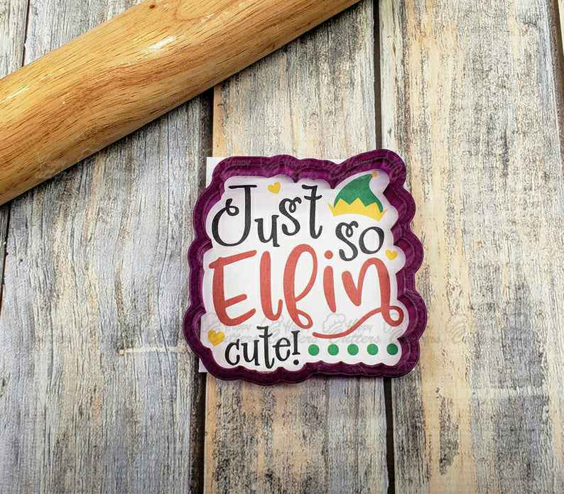 Just So Elfin Cute Plaque Cookie Cutter and Fondant Cutter and Clay Cutter with Optional Stencil,                       letter cookie cutters, cursive letter cookie stamp, cursive letter fondant cutters, fancy letter cookie cutters, large letter cookie cutters, letter shaped cookie cutters, cloud cookie cutter, baby cookie cutters target, perfume bottle cookie cutter, sweet sugarbelle shape shifter, beer cookie cutter, geometric fondant cutters, sweet sugarbelle mini, sea life cookie cutters,