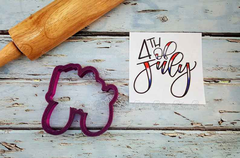 4th of July Hand Lettered Cookie Cutter and Fondant Cutter and Clay Cutter,                       letter cookie cutters, cursive letter cookie stamp, cursive letter fondant cutters, fancy letter cookie cutters, large letter cookie cutters, letter shaped cookie cutters, giant cookie cutters, baby bottle cookie cutter, sloth cookie cutter, gingerbread man cookie cutter kmart, angel wing cookie cutter, star cookie cutter set, dove cutter, alien cookie cutter,