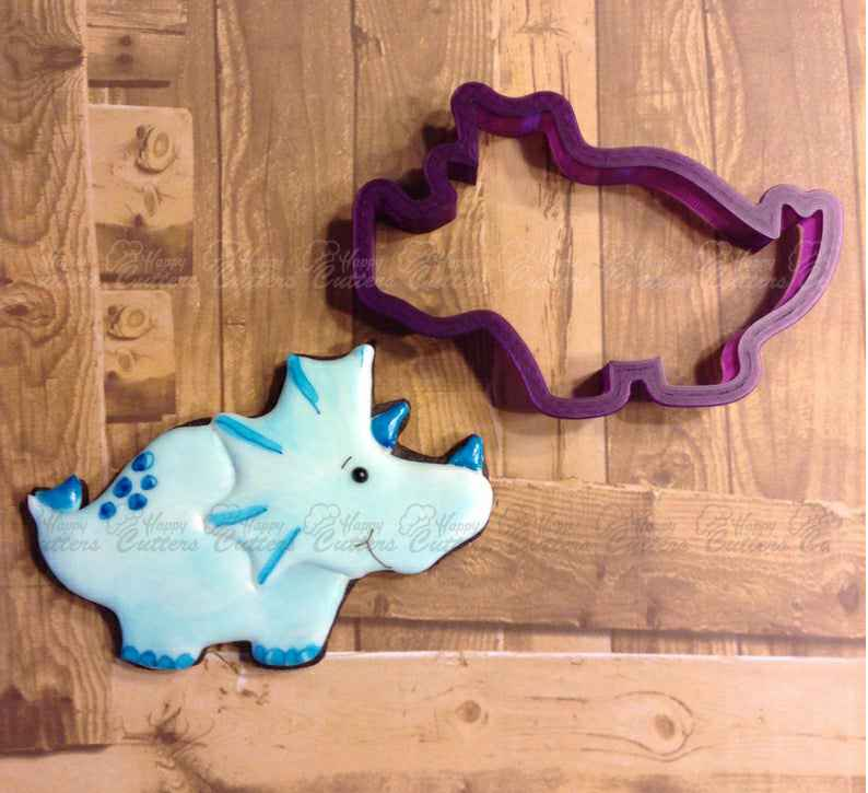 Triceratops Dinosaur Cookie Cutter or Fondant Cutter and Clay Cutter,                       animal cutters, animal cookie cutters, farm animal cookie cutters, woodland animal cookie cutters, elephant cookie cutter, dinosaur cookie cutters, small biscuit cutter, plastic cookie cutters, nautical cookie cutters, christmas cookie cutters big w, giant gingerbread man cutter, soccer ball cookie cutter, dinosaur cookie cutter set, large gingerbread man cookie cutter,