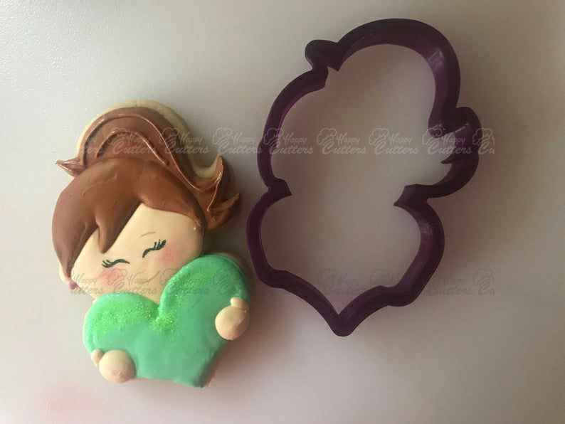 Miss Doughmestic Kids - Girl #1 with Heart Cookie Cutter or Fondant Cutter and Clay Cutter,                       heart cookie cutter, heart shaped cookie cutter, heart cutter, heart shape cutter, mini heart cookie cutter, love heart cookie cutter, christmas cookie cutters michaels, paw patrol cookie cutters michaels, lingerie cookie cutter, tropical leaf fondant cutter, personalized wedding cookie cutters, sock cookie cutter, middle finger cookie cutter, card suit cookie cutters,