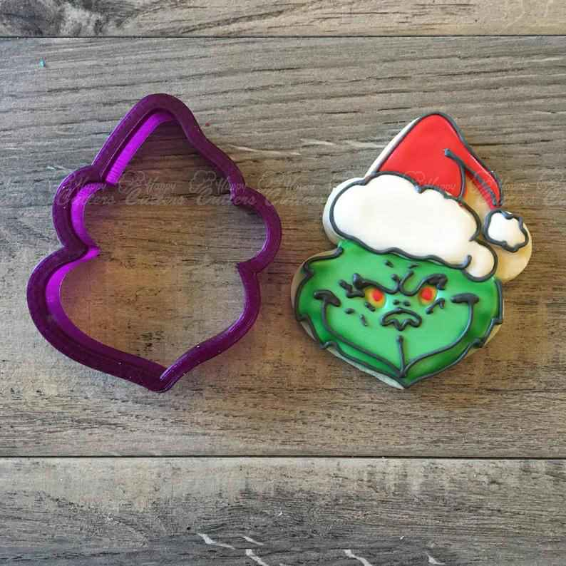 Santa Claus Cookie Cutter and Fondant Cutter and Clay Cutter,                       grinch cookie cutter, the grinch cookie cutter, grinch cookie cutter set, kids cutter, monster cookie cutters, christmas cookie cutters, unicorn cutter, tool shaped cookie cutters, lemon cookie cutter, mini leaf cookie cutter, motorcycle cookie cutter, fluted biscuit cutter, python cookiecutter, biscuit stamp,