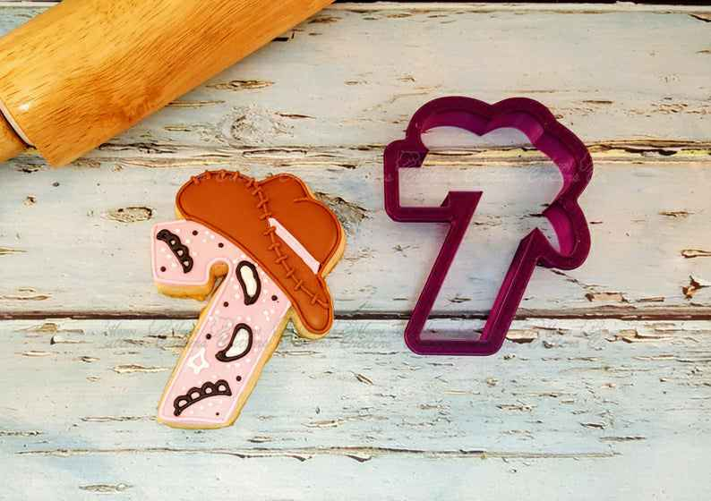 Seven or 7 or Seventh Birthday or Anniversary  Number with Cowboy Hat Cookie Cutter or Fondant Cutter and Clay Cutter,                       alphabet cookie cutters, alphabet cookie stamps, large alphabet cookie cutters, mini alphabet cookie cutters	, number cookie cutters, number 1 cookie cutter, jojo siwa cookie cutter, cookie stamps amazon, gucci fondant cutter, seal cookie cutter, spider man cookie cutter, elf cookie cutter, ariel cookie cutter, dog bone cookie cutter near me,