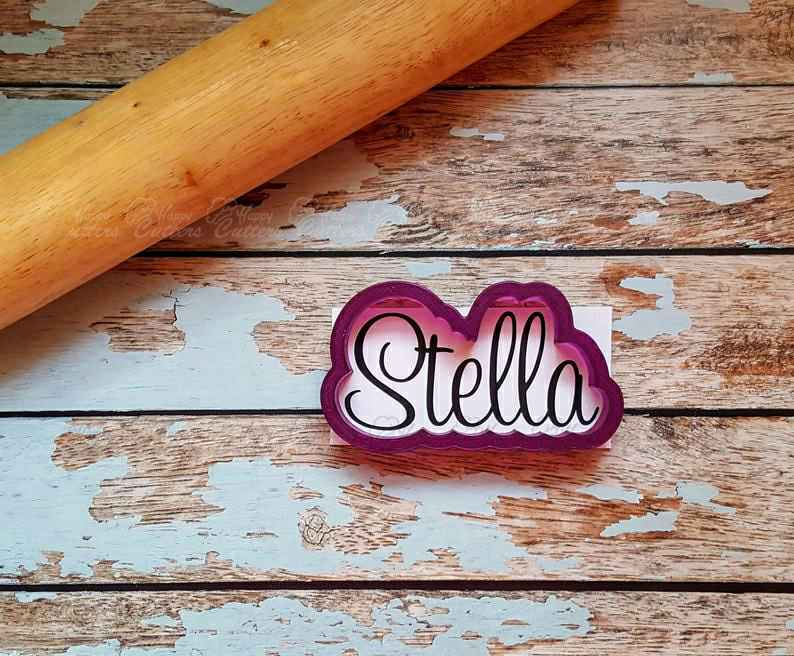 Stella Hand Lettered Cookie Cutter and Fondant Cutter and Clay Cutter,                       letter cookie cutters, cursive letter cookie stamp, cursive letter fondant cutters, fancy letter cookie cutters, large letter cookie cutters, letter shaped cookie cutters, superhero cookie cutter, cookie platter cutters, old river road copper cookie cutters, elephant biscuit cutter, ambulance cookie cutter, poker cookie cutters, lemon cookie cutter, hawaiian cookie cutters,