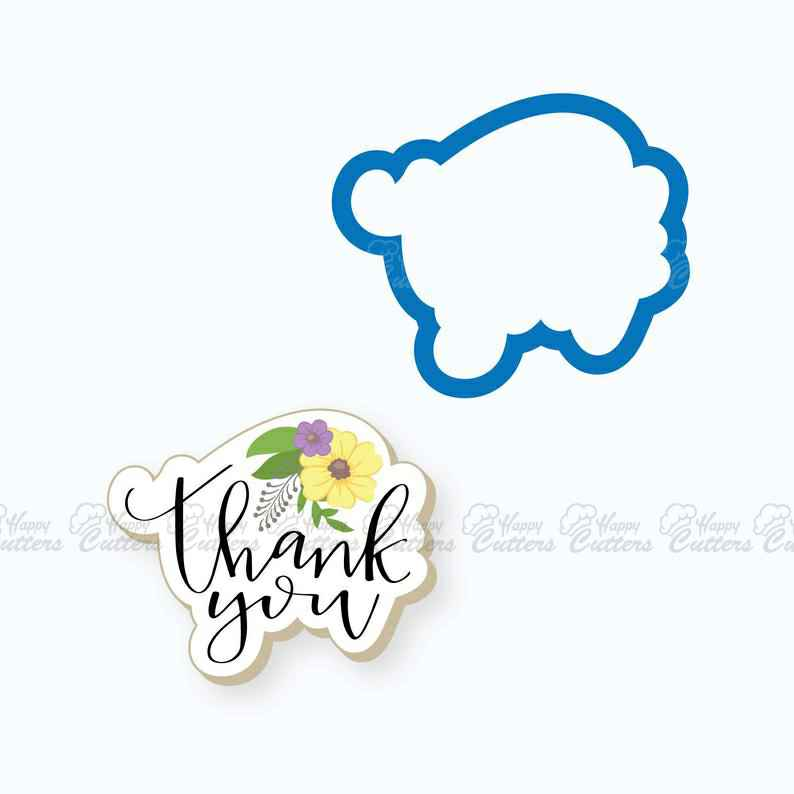 Thank You Plaque with Flowers Cookie Cutter,                       letter cookie cutters, cursive letter cookie stamp, cursive letter fondant cutters, fancy letter cookie cutters, large letter cookie cutters, letter shaped cookie cutters, yummi yogi cookie cutters, tooth shaped cookie cutter, big w cookie cutters, sweet sugarbelle mini cutters, cross cookie cutter michaels, peppa pig fondant cutter, mini goldfish cookie cutter, rolling biscuit cutter,