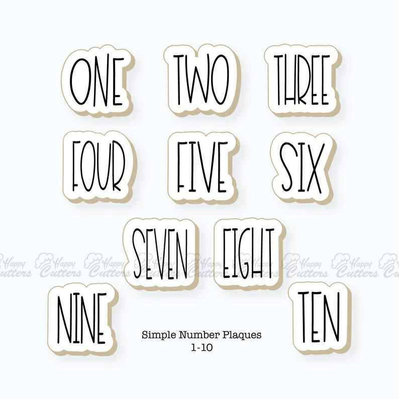 Simple Number Plaques Cookie Cutter Set | Numbers 1-10 Cookie Cutter Set,                       letter cookie cutters, cursive letter cookie stamp, cursive letter fondant cutters, fancy letter cookie cutters, large letter cookie cutters, letter shaped cookie cutters, daniel tiger cookie cutter, cookie cutter rolling pin, mini metal cookie cutters, llama cutter, pusheen cat cookie cutter, tovolo cookie cutters, elephant shaped cookie cutter, heart cookie cutters bulk,