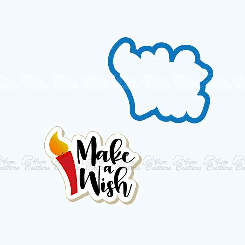 Make a Wish Plaque Cookie Cutter | Birthday Cookie Cutter | Plaque Cookies |  Birthday Cookies | Birthday Candle Cookie Cutter | Frosted,                       letter cookie cutters, cursive letter cookie stamp, cursive letter fondant cutters, fancy letter cookie cutters, large letter cookie cutters, letter shaped cookie cutters, plunger fondant cutters, daniel tiger cookie cutter, meri meri sausage dog cookie cutter, etsy kaleidacuts, black panther cookie cutter, animal cookie cutters, cheap metal cookie cutters, wilton alphabet cookie cutters,