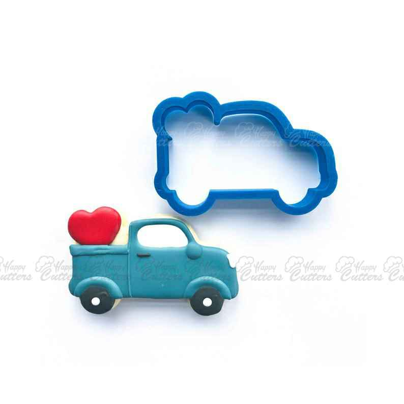 Vintage Truck with Heart Cookie Cutter | Heart Cookie Cutter | Valentine Cookie Cutter | Valentines Cookie Cutter | Unique Cookie Cutters,                       heart cookie cutter, heart shaped cookie cutter, heart cutter, heart shape cutter, mini heart cookie cutter, love heart cookie cutter, oreo cookie stamp, simba cookie cutter, grinch cookie cutter amazon, number cookie cutters michaels, vintage metal cookie cutters, 1 inch square cookie cutter, meri meri halloween cookie cutters, m&g cookie cutters,