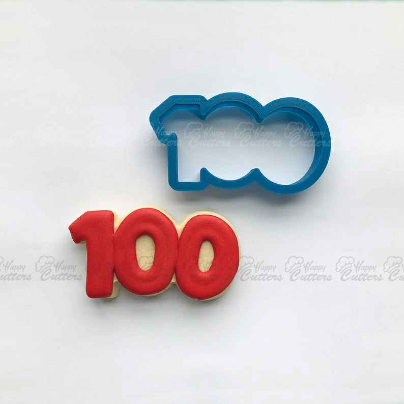 Number 100 Cookie Cutter | One Hundred Cookie Cutter | Number Cookie Cutters | Birthday Cookie Cutters | Unique Cookie Cutters,                       alphabet cookie cutters, alphabet cookie stamps, large alphabet cookie cutters, mini alphabet cookie cutters	, number cookie cutters, number 1 cookie cutter, wrench cookie cutter, grad cookie cutter, xo cookie cutters, aldi cookie cutters, supernatural cookie cutter, spine cookie cutter, elmo cookie cutter, wilton mermaid cookie cutter,