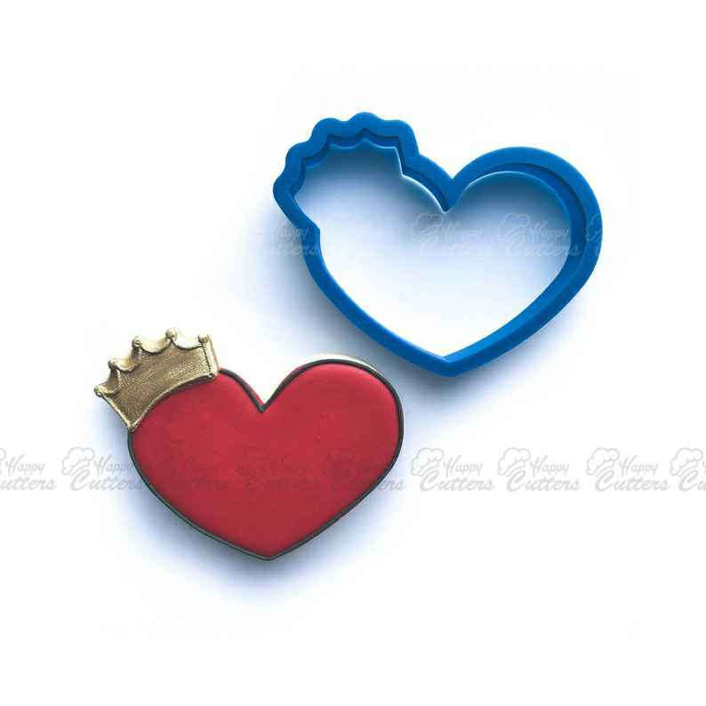 Heart Cookie Cutter | Heart with Crown Cookie Cutter | Valentine Cookie Cutter | Valentines Cookie Cutter | Unique Cookie Cutters,                       heart cookie cutter, heart shaped cookie cutter, heart cutter, heart shape cutter, mini heart cookie cutter, love heart cookie cutter, castle cookie cutter, large pastry cutters, star wars cookie cutters, first communion cookie cutters, cookie cutters & stamps, mary poppins cookie cutter, christmas cookie cutters, sugarbelle mini cutters,