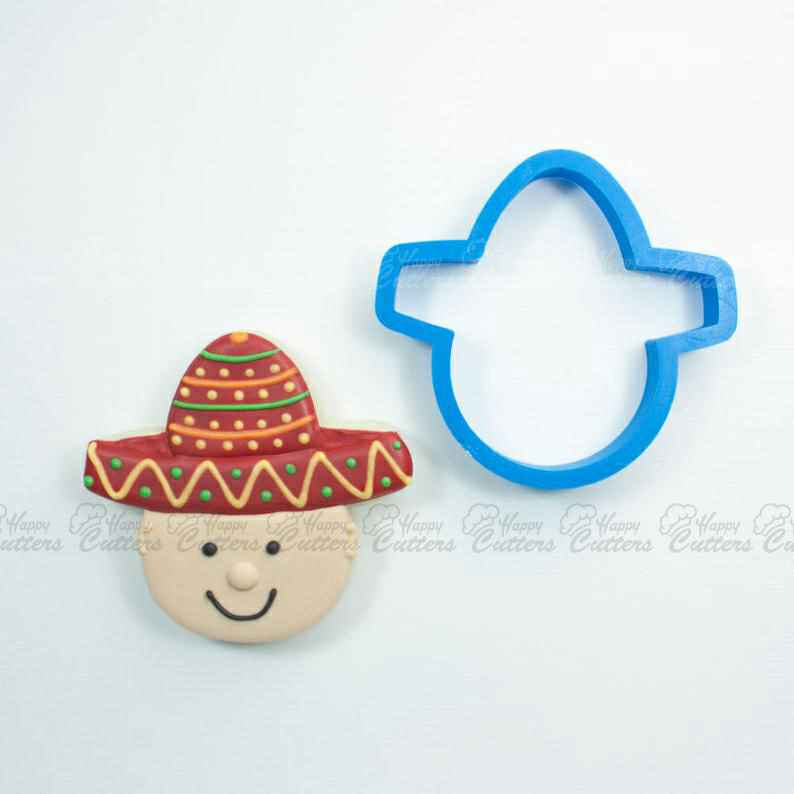 Sombrero with Head Cookie Cutter | Sombrero Cookie Cutter | Mini Cookie Cutters | Unique Cookie Cutters | Cinco De Mayo Cookie Cutter,                       champagne bottle cookie, champagne bottle cookie cutter, wine bottle cookie cutter, beer bottle cookie cutter, cactus cutter, cactus cookie cutter, big christmas cookie cutters, lady milkstache cookie cutters, dog cookie cutters australia, llama head cookie cutter, paw shaped cookie cutter, williams sonoma thumbprint cookie stamps, heart shaped cutter asda, african animal cookie cutters,