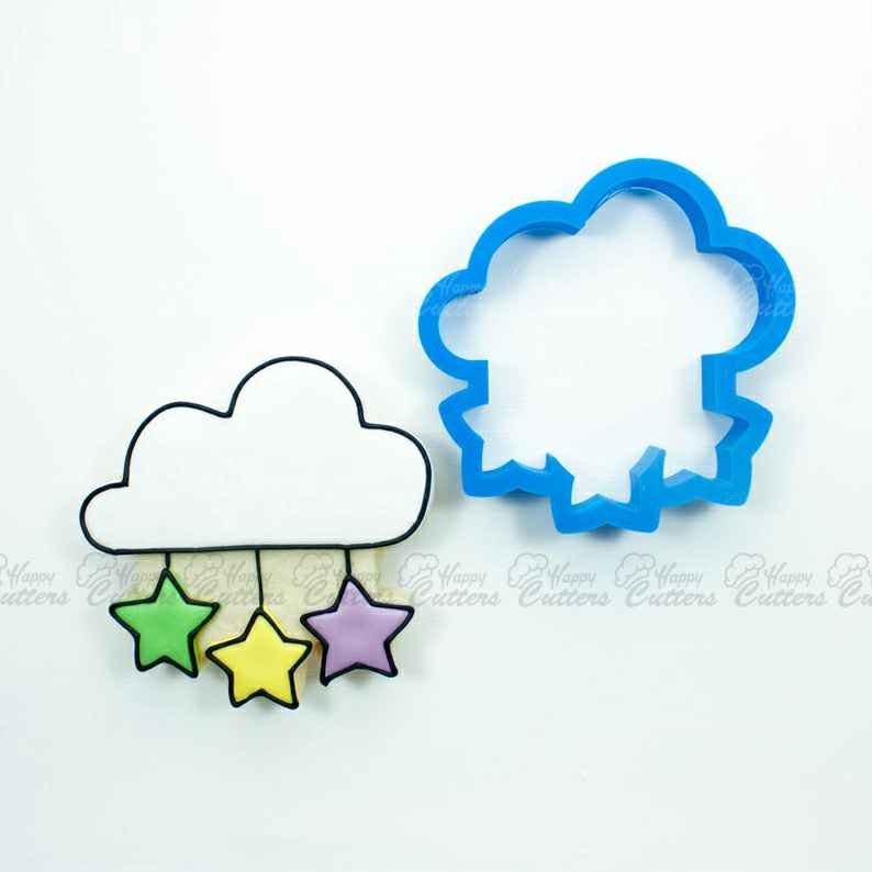 Cloud with Falling Stars Cookie Cutter,                       star cookie cutter, star shaped cookie cutter, small star cookie cutter, star shape cutter, star fondant cutter, outer space cookie cutters, witch cookie cutter, large gingerbread house cookie cutter, sweet sugarbelle cutters, jungle cookie cutters, small fish cookie cutter, unique christmas cookie cutters, cookie cutter flipkart, hello kitty fondant cutter,
