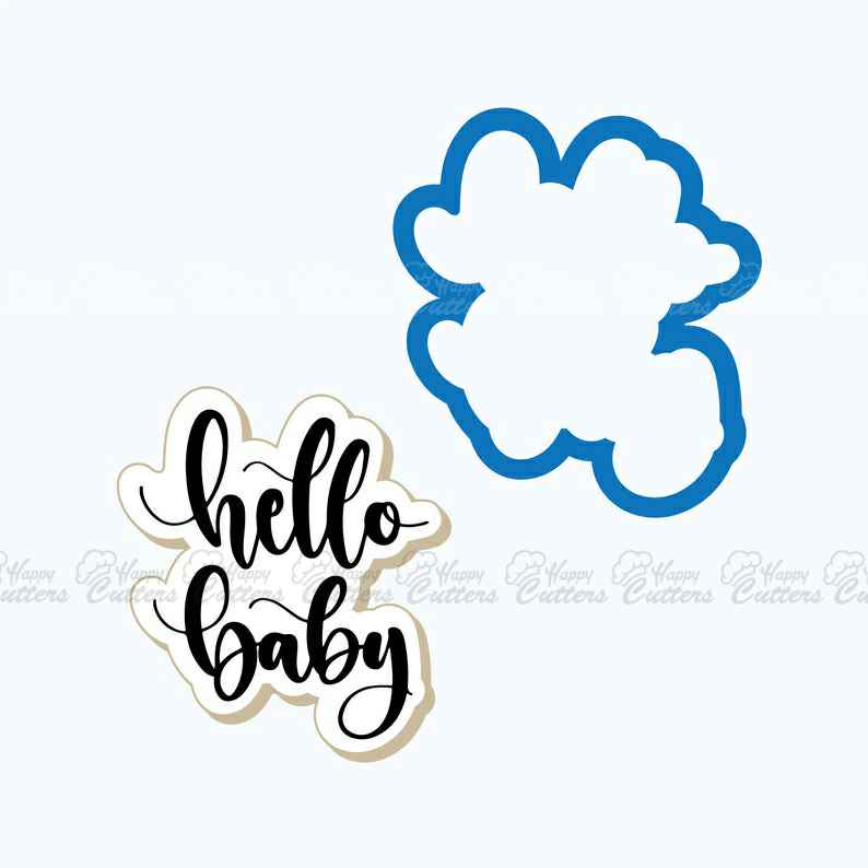 Hello Baby Plaque Cookie Cutter | Baby Shower Cookie Cutter | Plaque Cookies |  Baby Cookies | Frosted,                       letter cookie cutters, cursive letter cookie stamp, cursive letter fondant cutters, fancy letter cookie cutters, large letter cookie cutters, letter shaped cookie cutters, moose head cookie cutter, plunger cookie cutters, german cookie cutters, oh baby cookie stamp, paw shaped cookie cutter, bone cookie cutter, christmas cookie cutters big w, j cookie cutter,