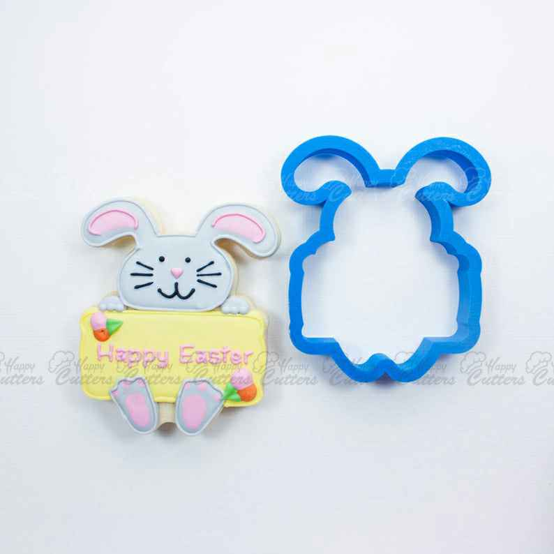 Bunny with Plaque Cookie Cutter | Easter Bunny Cookie Cutters | Easter Cookie Cutters | Plaque Cookie Cutters | Mini Cookie Cutters,                       easter cookie cutters, easter egg cookie cutter, easter bunny cookie cutter, easter cutters, rabbit cutters, rabbit cookie cutter, first communion cookie cutters, pastry cutter shapes, music note cutters, kroger cookie cutters, badge cookie cutter, heart cutter, nutcracker cookie cutter set, key shaped cookie cutter,