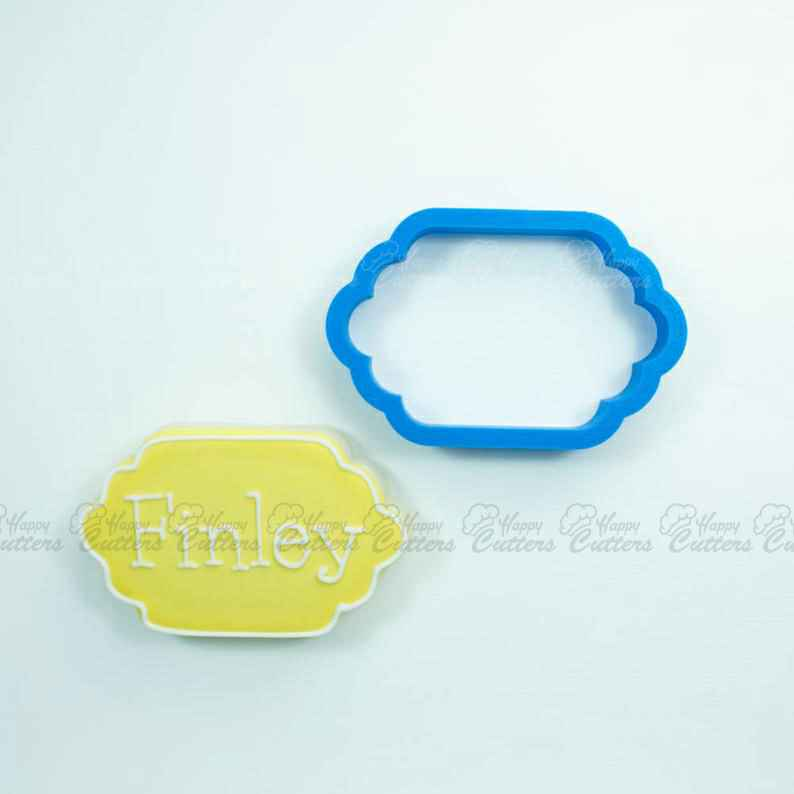 The Finley Plaque Cookie Cutter,                       plaque cookie cutter, plaque cookie, square plaque cookie cutter, cookie plaque, shape cutters, round cookie cutters, octonauts cookie cutters, hair bow cookie cutter, rattle cookie cutter, frozen cookie cutters, pomeranian cookie cutter, guitar shaped cookie cutter, lung cookie cutter, ladybug cookie cutter,