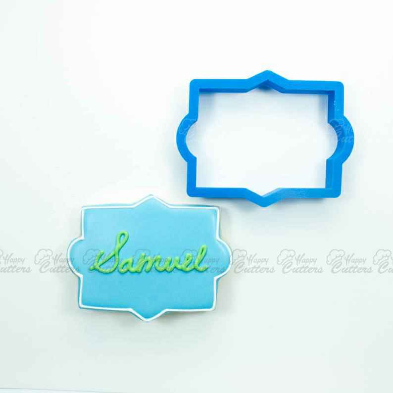 The Samuel Plaque Cookie Cutter,                       plaque cookie cutter, plaque cookie, square plaque cookie cutter, cookie plaque, shape cutters, round cookie cutters, easter cookie cutters, jeep cookie cutter, real estate cookie cutters, pampered chef cookie cutters, love heart cutter, cat paw cookie cutter, avengers fondant cutters, new year's cookie cutters,