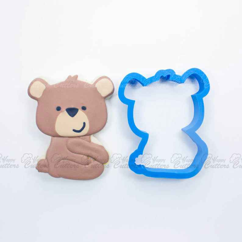 Woodland Bear Cookie Cutter |  Bear Cookie Cutters |Animal Cookie Cutter | Woodland Cookie Cutters | Custom Cookie Cutters,                       animal cutters, animal cookie cutters, farm animal cookie cutters, woodland animal cookie cutters, elephant cookie cutter, dinosaur cookie cutters, sea turtle cookie cutter, festive cookie cutters, rick and morty cookie cutter, flamingo cookie cutter, personalized wedding cookie cutters, v bucks cookie cutter, chanel fondant cutter, boot cookie cutter,