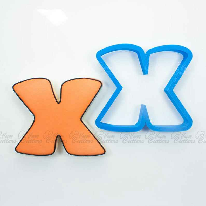 Letter X Cookie Cutter | Alphabet Cookie Cutters | Letter Cookie Cutters | ABC Cookie Cutters | Large Alphabet Cookie Cutters,                       alphabet cookie cutters, alphabet cookie stamps, large alphabet cookie cutters, mini alphabet cookie cutters	, number cookie cutters, number 1 cookie cutter, pocoyo cookie cutter, house cutter, homemade cookie cutters, hawaiian cookie cutters, coco chanel cookie cutter, scalloped fondant cutter, biology cookie cutters, bunny face cookie cutter,