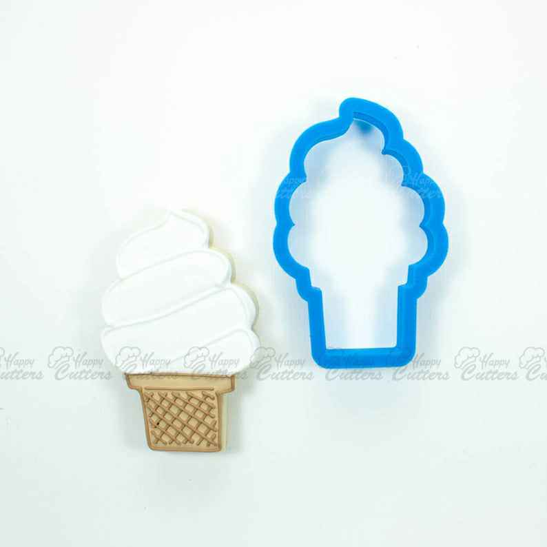 Ice Cream Cone Cookie Cutter (Soft Serve),                       ice cream cookie cutter, ice cream cone cookie cutter, ice cream truck cookie cutter, sweet cutters, food shape cutters, food cookie cutters, holiday cookie cutters, christmas cookie cutters kmart, kaleidacuts etsy, assorted cookie cutters, ambulance cookie cutter, periodic table cookie cutters, dog treat cookie molds, biscuit letter stamp,
