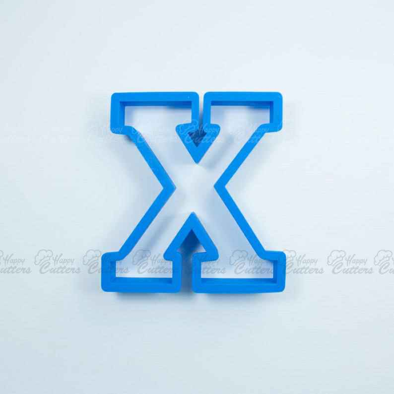 Block Letter X Cookie Cutter | Alphabet Cookie Cutters | Letter Cookie Cutters | ABC Cookie Cutters | Block Letters Alphabet Cookie Cutters,                       alphabet cookie cutters, alphabet cookie stamps, large alphabet cookie cutters, mini alphabet cookie cutters	, number cookie cutters, number 1 cookie cutter, ramadan cookie cutters, ambulance cookie cutter, tardis cookie cutter, obscene cookie cutters, 3 inch alphabet cookie cutters, 4 inch cookie cutter, ninjabread cookie cutters, texas cookie cutter,