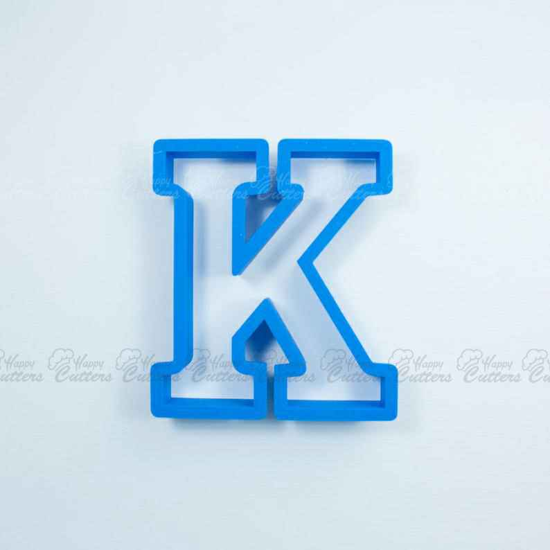 Block Letter K Cookie Cutter | Alphabet Cookie Cutters | Letter Cookie Cutters | ABC Cookie Cutters | Block Letters Alphabet Cookie Cutters,                       alphabet cookie cutters, alphabet cookie stamps, large alphabet cookie cutters, mini alphabet cookie cutters	, number cookie cutters, number 1 cookie cutter, coffin cookie cutter, wedding cookie cutters, horse fondant cutter, jurassic world cookie cutter, custom cookie cutters etsy, vehicle cookie cutters, holiday cookie cutters, weed cookie cutter,