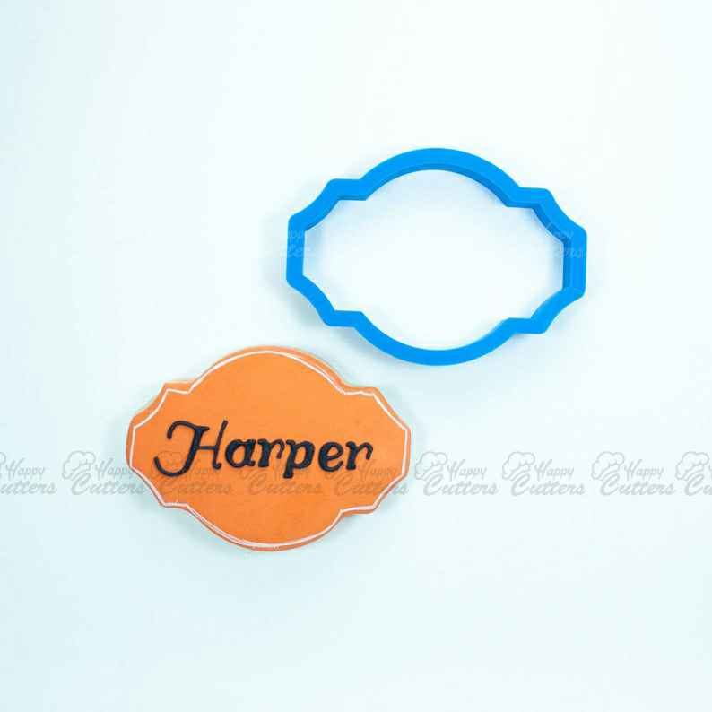 The Harper Plaque Cookie Cutter | Plaque Cookie Cutters | 3D Cookie Cutters | Unique Cookie Cutters,                       plaque cookie cutter, plaque cookie, square plaque cookie cutter, cookie plaque, shape cutters, round cookie cutters, best cookie cutters, schnauzer cookie cutter, john deere cookie cutter, twelve days of christmas cookie cutters, sugarbelle halloween cookie cutters, wilton snowman cookie cutter, skull cookie cutter michaels, ninja gingerbread man cookie cutters,