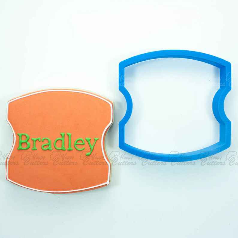 The Bradley Plaque Cookie Cutter,                       plaque cookie cutter, plaque cookie, square plaque cookie cutter, cookie plaque, shape cutters, round cookie cutters, daisy cookie cutter, gingerbread girl cookie cutter, small metal cookie cutters, pizza slice cookie cutter, high heel cookie cutter, g cookie cutter, round biscuit cutter, baking cookie cutters,