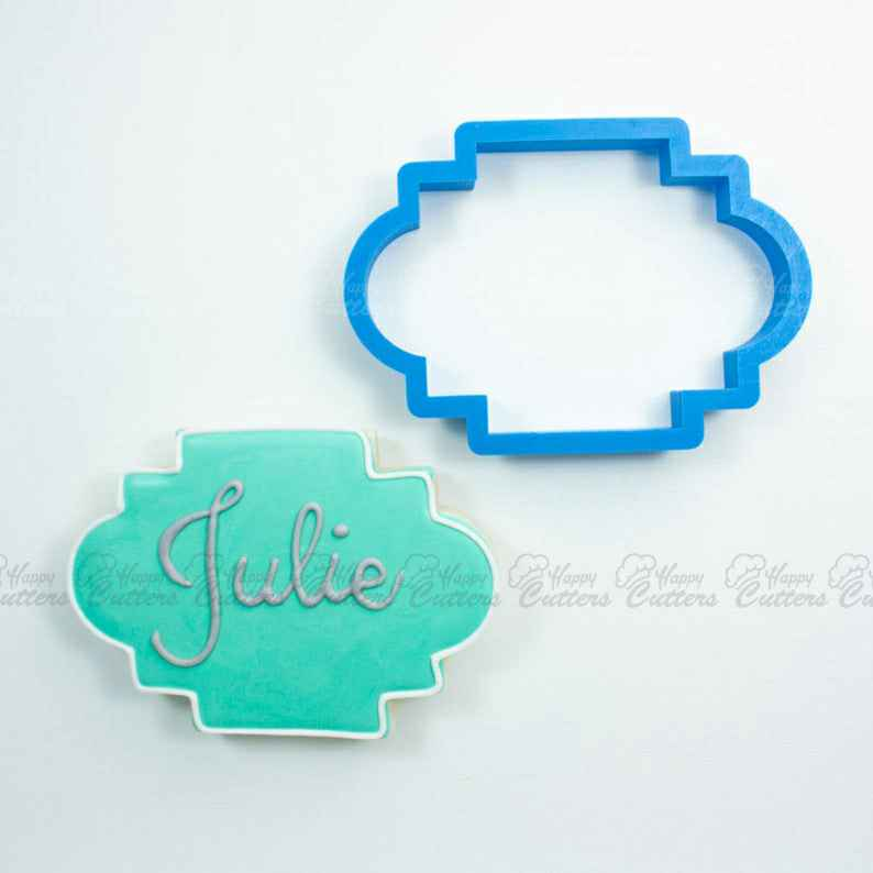 The Julie Plaque Cookie Cutter,                       plaque cookie cutter, plaque cookie, square plaque cookie cutter, cookie plaque, shape cutters, round cookie cutters, reindeer cutter, purdue cookie cutter, multi cookie cutter, mario cookie cutter, mug cookie cutter, devil cookie cutter, imprint cookie cutters, bunny shaped cookie cutter,