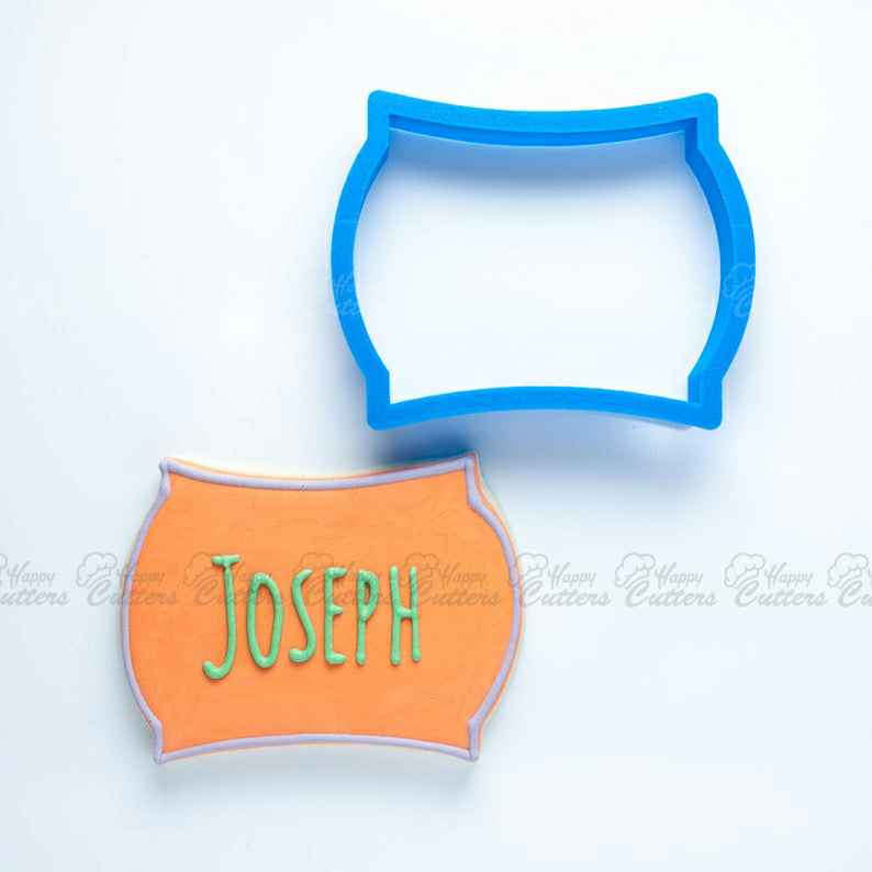The Joseph Plaque Cookie Cutter,                       plaque cookie cutter, plaque cookie, square plaque cookie cutter, cookie plaque, shape cutters, round cookie cutters, sandwich cutters for kids, gift tag cookie cutter, direwolf cookie cutter, air force cookie cutter, dog bone cookie cutter petco, unicorn head cookie cutter, rocket ship cookie cutter, dog treat cutters,