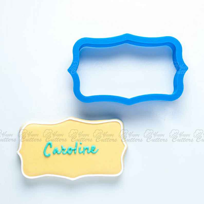 The Caroline Plaque Cookie Cutter,                       plaque cookie cutter, plaque cookie, square plaque cookie cutter, cookie plaque, shape cutters, round cookie cutters, tetris cookie cutters, vintage truck cookie cutter, unicorn horn cookies, cookie shapes by hand, overwatch cookie cutter, 8 inch cookie cutter, thumbprint cookie stamps, mini fondant cutters,