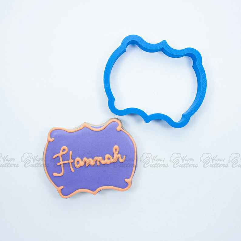 The Hannah Plaque Cookie Cutter,                       plaque cookie cutter, plaque cookie, square plaque cookie cutter, cookie plaque, shape cutters, round cookie cutters, oval cookie cutter, forky cookie cutter, christmas tree cookie cutter, pampered chef easter cookie cutters, holly leaf cookie cutter, paw print cutter, harry potter cookie set, christmas bauble cookie cutters,