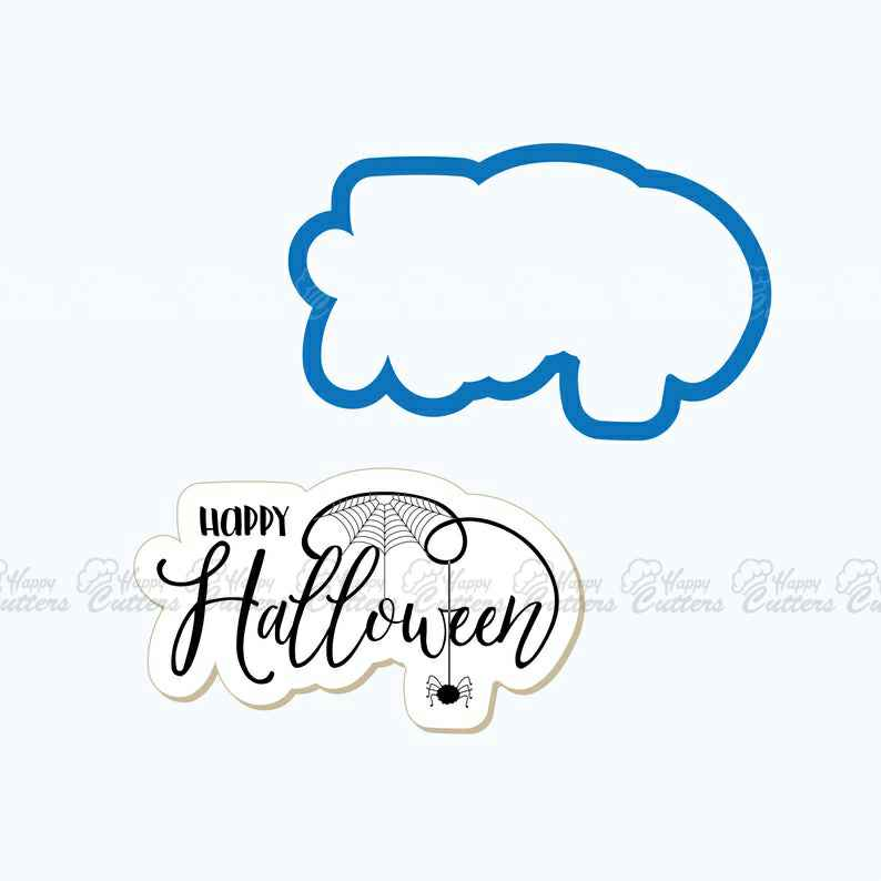 Happy Halloween with Spider Cookie Cutter,                       letter cookie cutters, cursive letter cookie stamp, cursive letter fondant cutters, fancy letter cookie cutters, large letter cookie cutters, letter shaped cookie cutters, harry potter cutters, wilton santa cookie cutter, mini metal cookie cutters, biscuit stamp, wilton grippy cookie cutters, ramadan cookie cutters, star cookie cutter set, space themed cookie cutters,