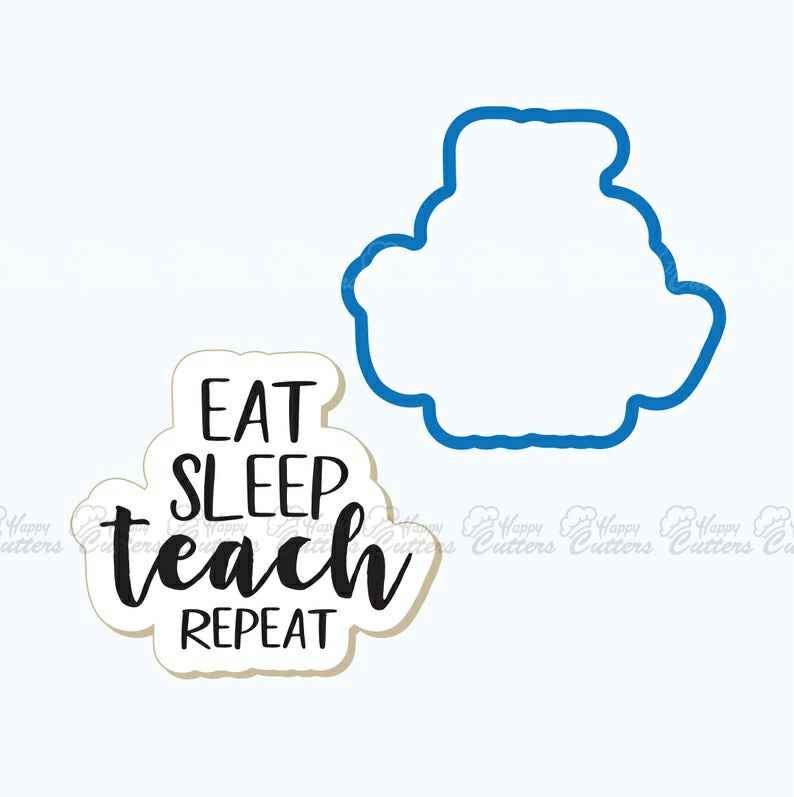 Eat Sleep Teach Repeat Plaque Cookie Cutter | School Cookie Cutter | Plaque Cookies | School Cookies | Frosted,                       letter cookie cutters, cursive letter cookie stamp, cursive letter fondant cutters, fancy letter cookie cutters, large letter cookie cutters, letter shaped cookie cutters, ice cream truck cookie cutter, sugarbelle halloween cookie cutters, star cookie cutter, williams sonoma christmas cookie cutters, lemon shaped cookie cutter, masonic cookie cutter, chicken cookie cutter, musical note cookie cutters,