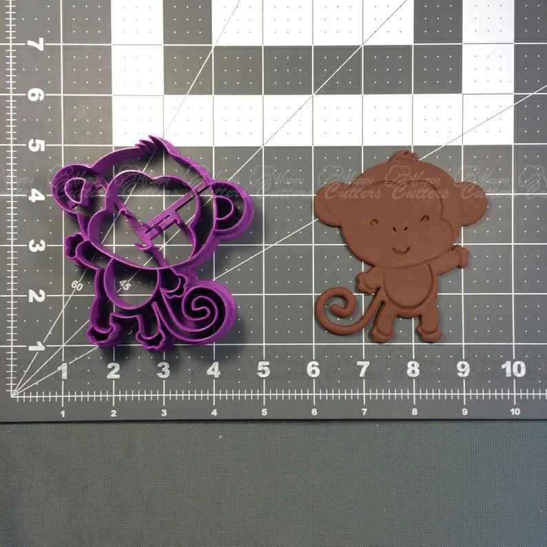 Baby Monkey Cookie Cutter,                       animal cutters, animal cookie cutters, farm animal cookie cutters, woodland animal cookie cutters, elephant cookie cutter, dinosaur cookie cutters, witch cookie cutter, gucci fondant cutter, rectangle cutter, whisked away cookie cutters, back of truck cookie cutter, pi symbol cookie cutter, animal biscuit cutters, grinch cookie cutter set,