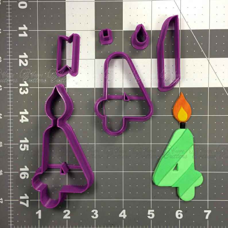 Candle Number 4 Cookie Cutter Set,                       birthday cookie cutters, happy birthday cookie cutter, birthday cake cookie cutter, happy birthday cookie stamp, baby shower cookie cutters, bridal shower cookie cutters, flamingo cookie cutter, scandinavian cookie cutters, mario brothers cookie cutters, forest animal cookie cutters, large metal cookie cutters, ninja gingerbread man cookie cutters, elephant cookie cutter, platter cookie cutters,