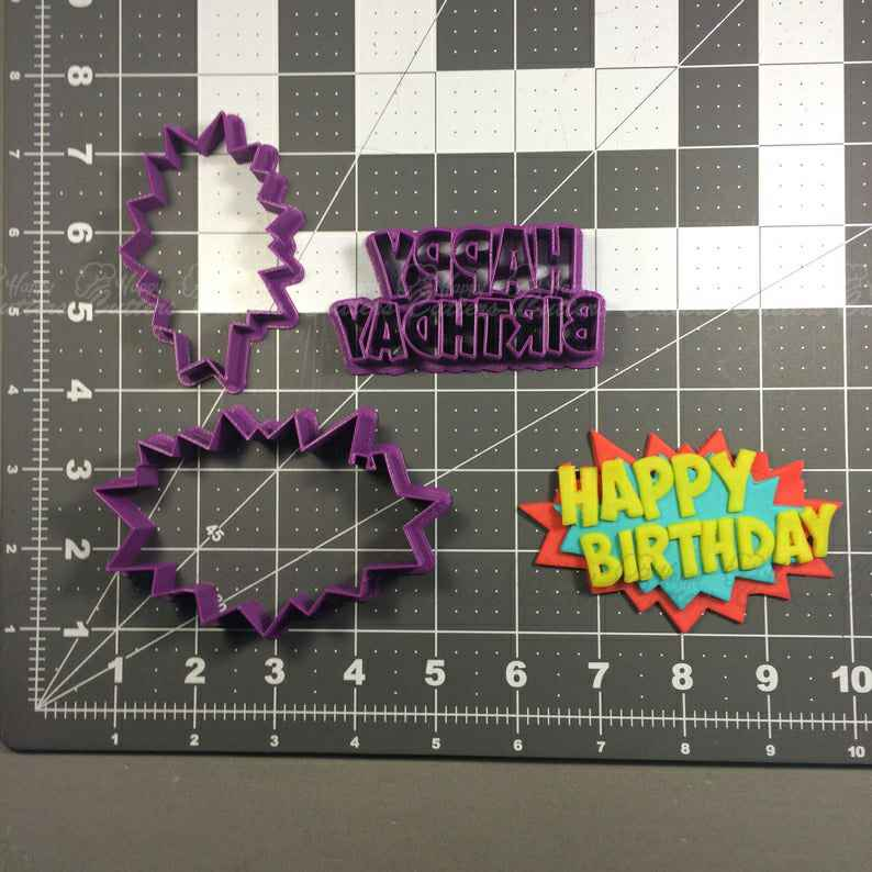 Happy Birthday Pow Cookie Cutter Set,                       birthday cookie cutters, happy birthday cookie cutter, birthday cake cookie cutter, happy birthday cookie stamp, baby shower cookie cutters, bridal shower cookie cutters, small gingerbread man cookie cutter, best christmas cookie cutters, dove cutter, williams sonoma cookie cutters, 70 cookie cutter, holly cookie cutter, sweet sugarbelle shape shifter cookie cutters, teacup cookie cutter,