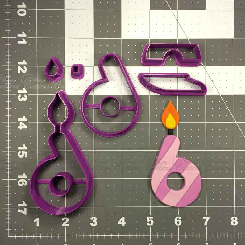 Candle Number 6 Cookie Cutter Set,                       birthday cookie cutters, happy birthday cookie cutter, birthday cake cookie cutter, happy birthday cookie stamp, baby shower cookie cutters, bridal shower cookie cutters, elephant biscuit cutter, rare cookie cutters, ghost cutter, small letter cookie cutters, mexican fiesta cookie cutters, baby elephant cookie cutter, raven cookie cutter, candy cane cookie cutter,