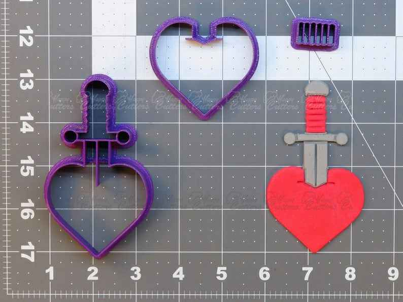 Traditional Style Tattoo - Heart Dagger  Cookie Cutter Set,                       heart cookie cutter, heart shaped cookie cutter, heart cutter, heart shape cutter, mini heart cookie cutter, love heart cookie cutter, mickey mouse cookie cutter hobby lobby, ghostbuster cookie cutter, mini flower cookie cutters, snake cookie cutter, ice cream truck cookie cutter, peppa pig cookie cutter, baby grow cookie cutter, wolf cookie cutter,