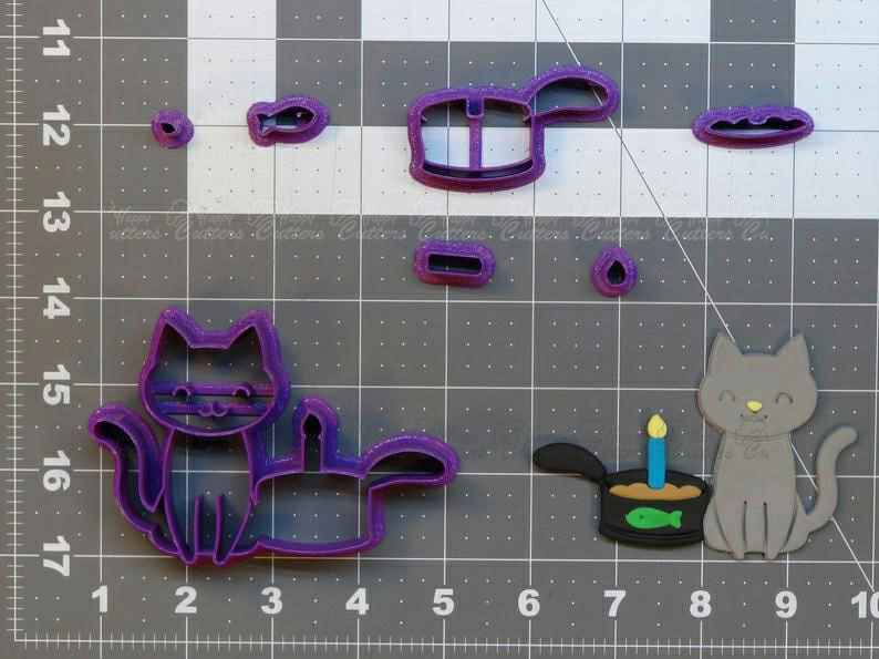 Birthday Cat  Cookie Cutter Set,                       birthday cookie cutters, happy birthday cookie cutter, birthday cake cookie cutter, happy birthday cookie stamp, baby shower cookie cutters, bridal shower cookie cutters, bone biscuit cutter, cauldron cookie cutter, t rex cookie cutter, cooky cutter, truck and tree cookie cutter, wilton cookie set, bee cookie cutter michaels, mini bone cookie cutter,
