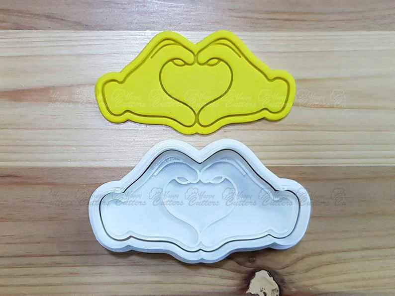 Two Hands Heart Cookie Cutter and Stamp,                       heart cookie cutter, heart shaped cookie cutter, heart cutter, heart shape cutter, mini heart cookie cutter, love heart cookie cutter, disney cutters, splash cookie cutter, pencil cookie cutter, horse head cookie cutter, golden girls cookie cutters, cookie cutters sainsburys, dinosaur biscuit cutters, spoon cookie cutter,